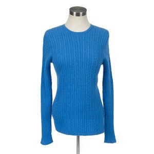Lands' End Cashmere cable knit crewneck sweater